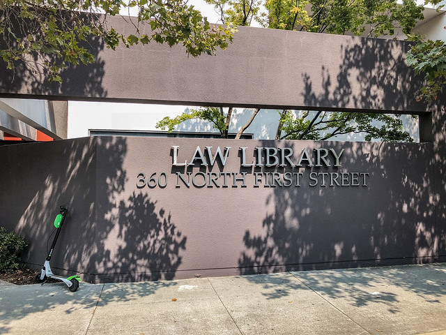 San Jose Law Library with Dockless Scooter