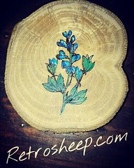 Blue Baptista Flowers from the Purge #bluebaptista #purge #purgecostume #purgemask JUST MADE Wooden Jewellery www.Retrosheep.com Handmade Wooden Necklace Handmade Charm Necklace #amazonhandmade #Retrosheep #Personalised #Gifts FIND US ON AMAZON HANDMADE h