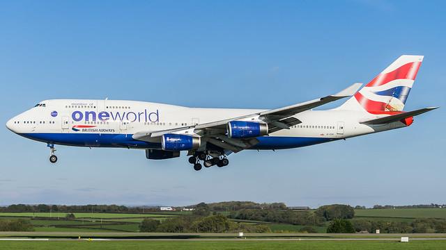 G-CIVI - British Airways 747 @ Cardiff Airport 211018