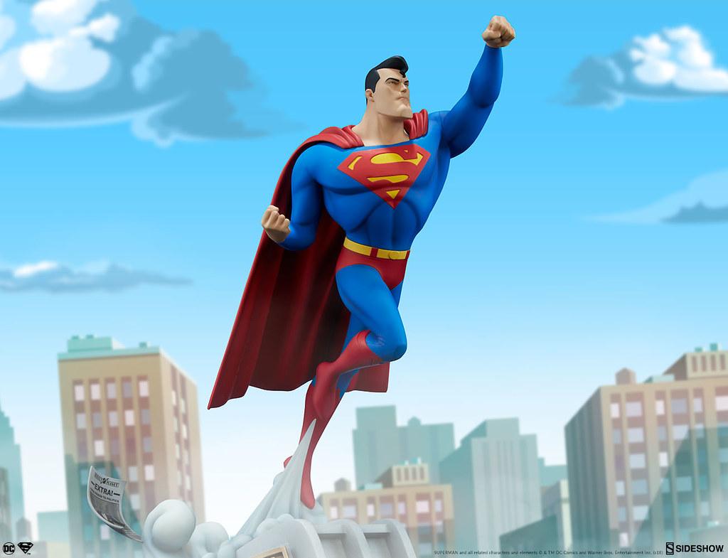 一飛沖天的氪星之子!! Sideshow Collectibles DC The Animated Series【超人】Superman 全身雕像作品