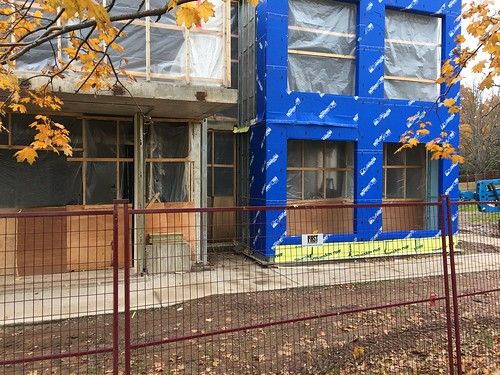 More work preparing the exterior to be closed.
