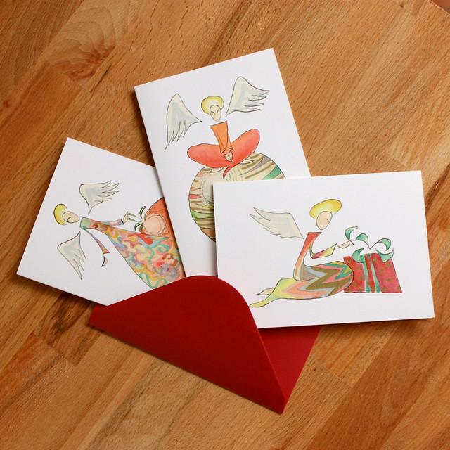 Série de cartes de voeux anges