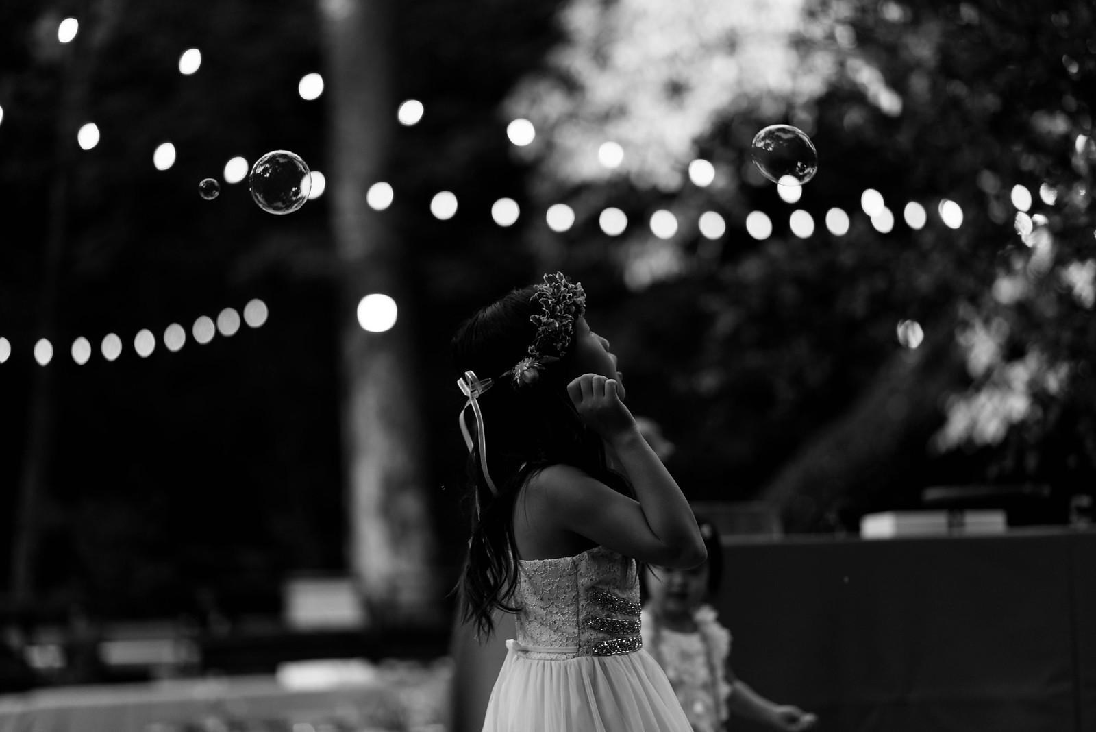 Flower Girl Black and White Magic Candid on juliettelaura.com