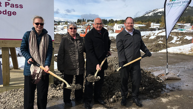Crowsnest Pass Seniors Lodge groundbreaking