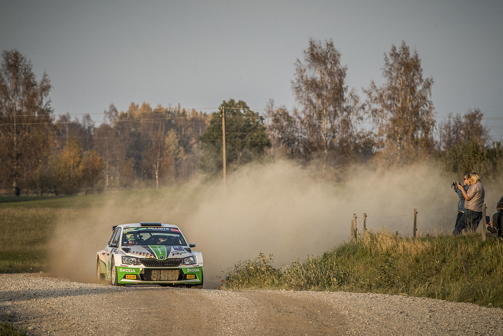 02 KREIM Fabian, (DEU), Frank CHRISTIAN, (DEU), Skoda Auto Deutschland, Skoda Fabia R5, Action during the 2018 European Rally Championship ERC Liepaja rally,  from october 12 to 14, at Liepaja, Lettonie - Photo Gregory Lenormand / DPPI