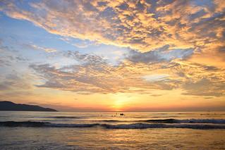 Sunrise sea in Da Nang