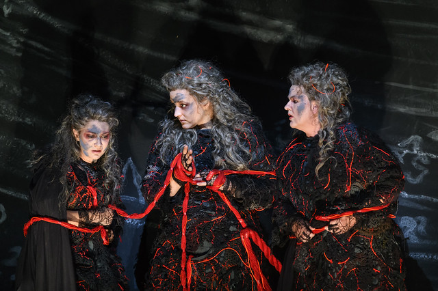 Claudia Huckle, Lise Davidsen and Irmgard Vilsmaier as Norns in Götterdämmerung, The Royal Opera ©2018 ROH. Photograph by Bill Cooper