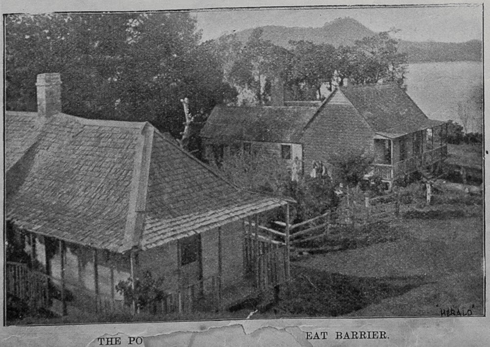 The Post Office, Tryphena, Great Barrier Island, from The Auckland Weekly News, January 20, 1899, (Sir George Grey Special Collections, Auckland Libraries, AWNS-18990120-2-4)