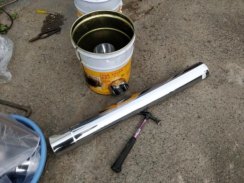 ビニールハウス用のストーブを作る (7)