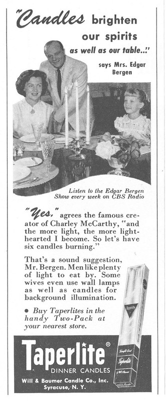 Taperlite Candles 1953