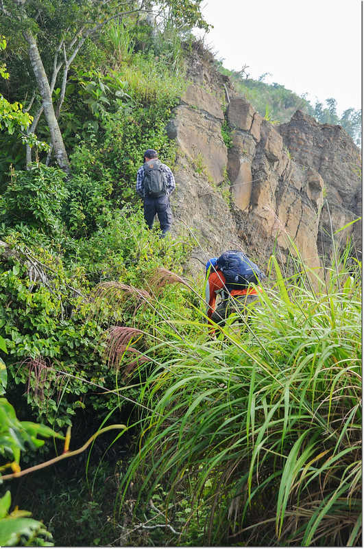 小林山登山步道大坍方危瘦稜地形 4