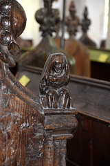 St Bartholomew holding a flencing knife? (15th Century)