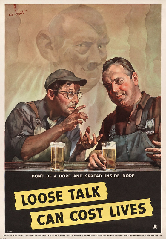 Don't be a dope and spread inside dope - loose talk can cost lives (1942) - Cecil Calvert Beall (1892-1967)