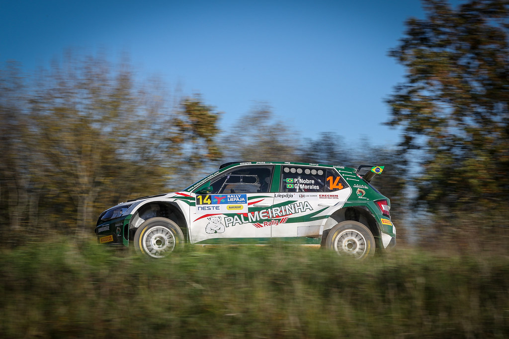 14 NOBRE Paulo, (BRA), Gabriel MORALES, (BRA), Palmeirinha Rally, Skoda Fabia R5, Action during the 2018 European Rally Championship ERC Liepaja rally,  from october 12 to 14, at Liepaja, Lettonie - Photo Alexandre Guillaumot / DPPI