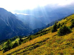Thunderclouds rising in the Samnaun valley