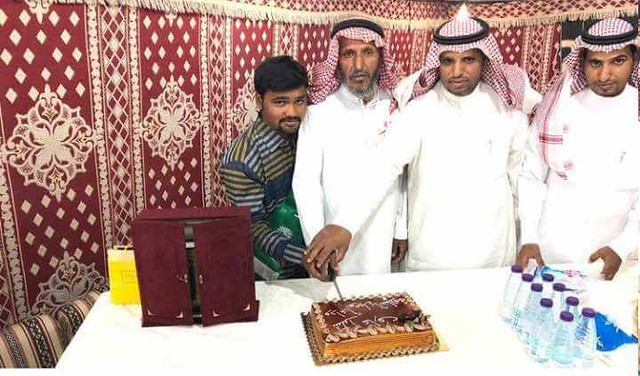 4753 Saudi family throws a farewell party for an Indian domestic worker 01