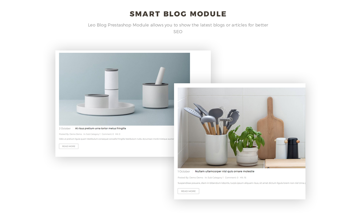 smart blog module -  Houseware, Kitchenware Prestashop 1.7 theme - free install support
