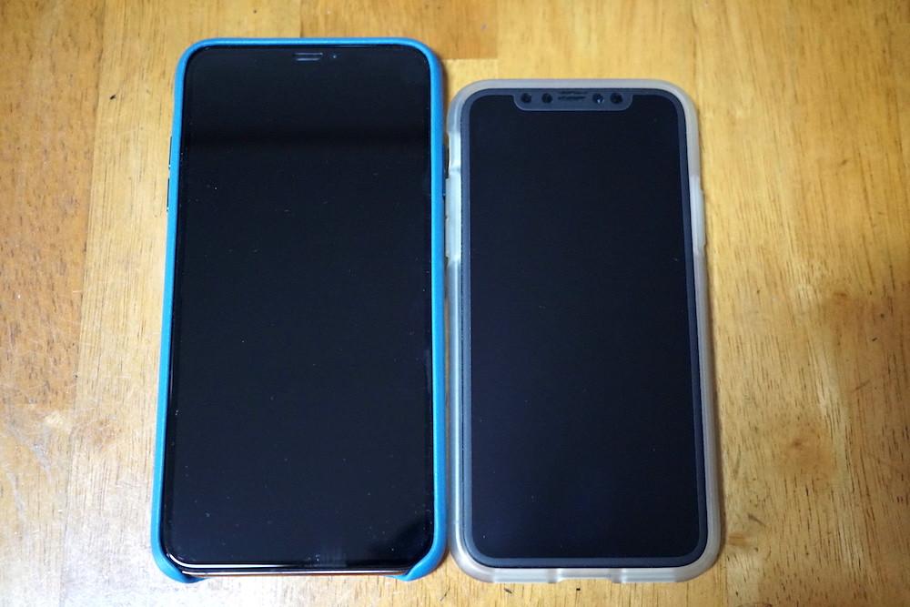 iPhoneXS MaxとiPhoneXのサイズ感