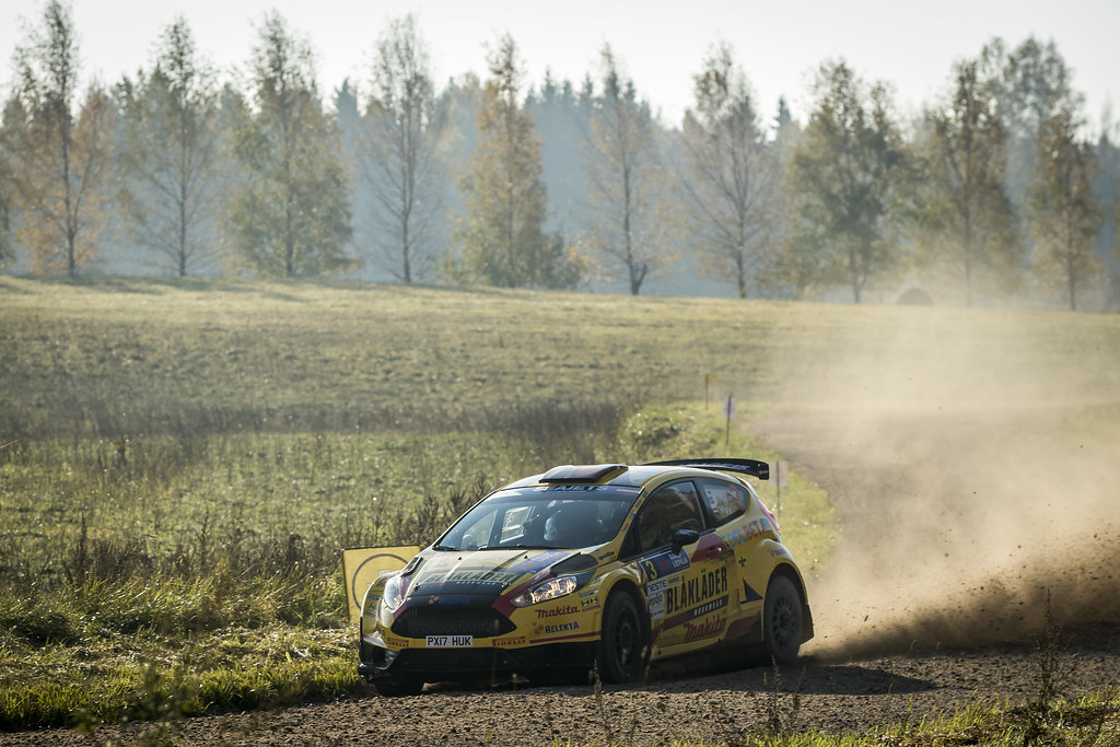 03 BRYNILDSEN Eyvind, (NOR), Ilka MINOR, (AUT), Ford Fiesta R5, Action during the 2018 European Rally Championship ERC Liepaja rally,  from october 12 to 14, at Liepaja, Lettonie - Photo Gregory Lenormand / DPPI