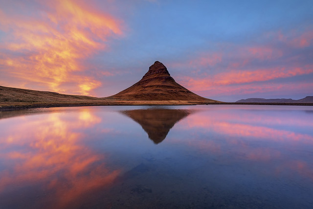 Stunning Sunset, Kirkjufell, Snaefellsnes Peninsula, Iceland