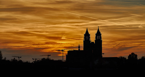 Golden Sunset Skyline