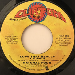 NATURAL FOUR:LOVE THAT REALLY COUNTS(LABEL SIDE-A)