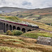'British India Line' crosses Arten Gill Viaduct with 'The Pendle Dalesman', Settle-Carlisle railway. by John / Arc-Images