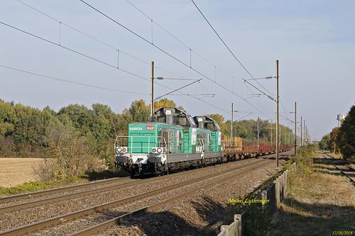UM BB 69424-69480 Train Infra Hausbergen-Mulhouse Nord à Wittelsheim