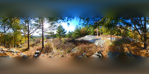 brooks brooksbos bluehills nature panorama 360 equirectangular afternoon fall autumn foliage hiking backpacking newengland massachusetts
