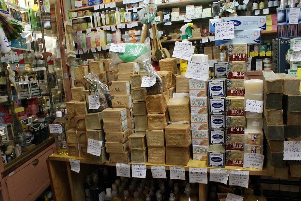 Ancienne droguerie à Gênes : L'Antica Drogheria Casaleggio.