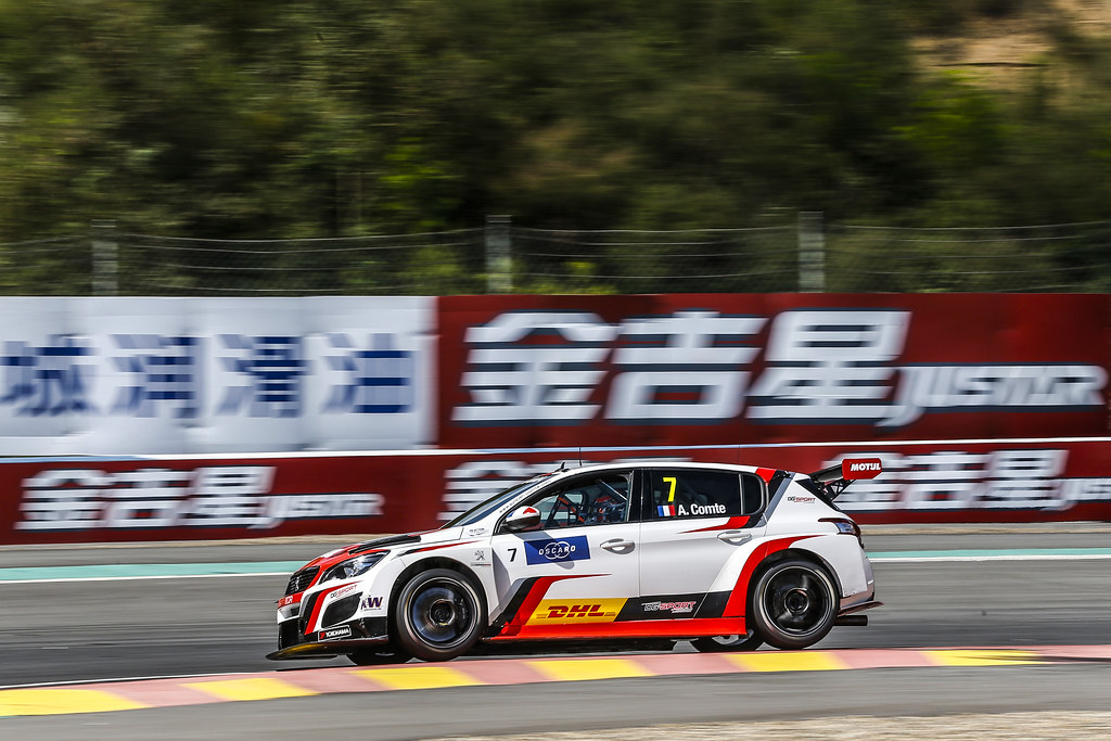 07 COMTE Aurelien, (fra), Peugeot 308 TCR team DG Sport Competition, action during the 2018 FIA WTCR World Touring Car cup of China, at Ningbo  from September 28 to 30 - Photo Jean Michel Le Meur / DPPI