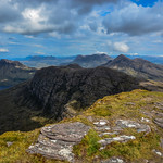 28. Mai 2016 - 7:53 - Sunshine on the summit of the Fhiddleir gazing out over the peaks of Assynt, a veritable north west Scotland paradise.