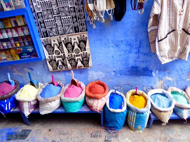 Colours, Chefchaouen, Morocco, Panasonic DMC-ZS40