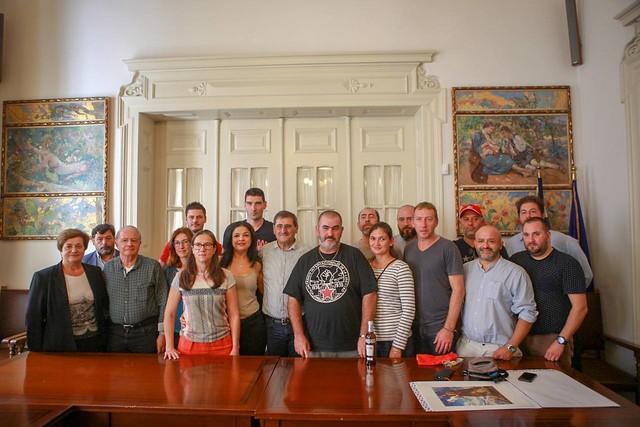 Συνάντηση αντιπροσωπείας Γάλλων συνδικαλιστών με τον Δήμαρχο Πάτρας