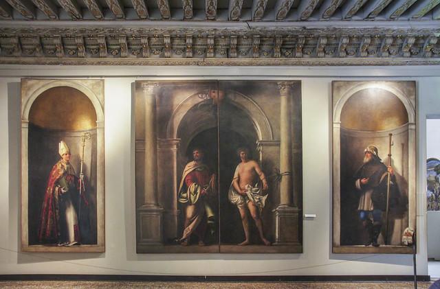 I santi Ludovico da Tolosa, Bartolomeo, Sebastiano e Sinibaldo, Sebastiano Luciani, Detto Sebastiano del Piombo, 1485-1547