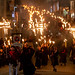 Southover Bonfire society coming down Lewes High Street by lomokev