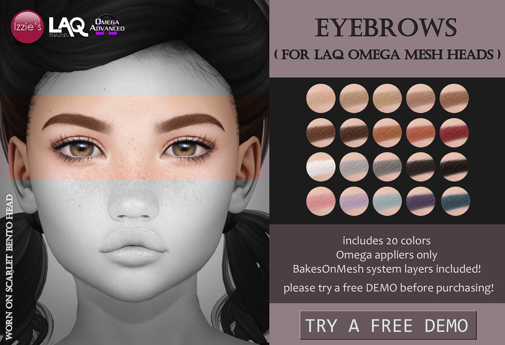 LAQ Omega Eyebrows for FLF - TeleportHub.com Live!