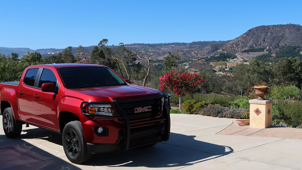 GMC Canyon pick-up truck in the Santa Ana Mountains