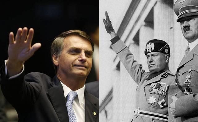 As ideias de Bolsonaro comparadas ao que defendiam Hitler e Mussolini nos anos 30 e 40 - Créditos: Montagem