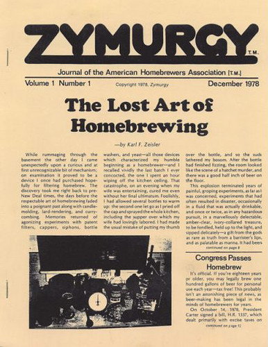 Journal of the American Homebrewers Association, Vol. 1, No. 1