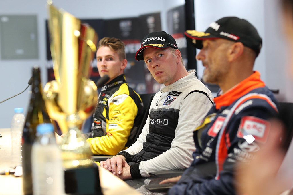 BJORK Thed, (swe), Hyundai i30 N TCR team Yvan Muller Racing, portrait, DUPONT Denis, (bel), Audi RS3 LMS TCR team Comtoyou Racing, portrait, TARQUINI Gabriele, (ita), Hyundai i30 N TCR team BRC Racing, portrait during the 2018 FIA WTCR World Touring Car cup of China, at Ningbo  from September 28 to 30 - Photo Marc de Mattia / DPPI