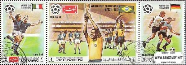 Známky Jemen (kráľovstvo) 1970 Futbal MS 70, nerazené