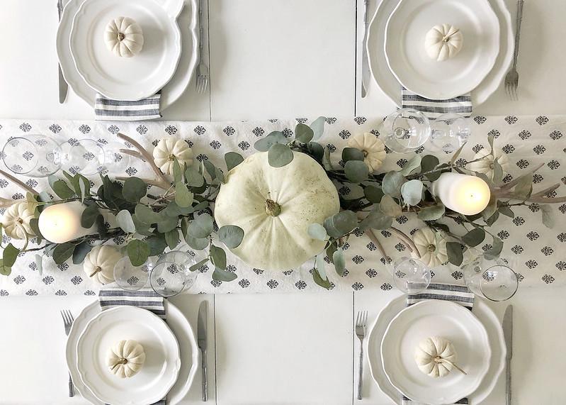 White Pumpkins Tablescape