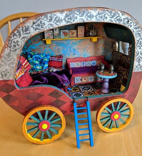 table in caravan