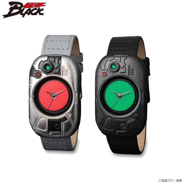 《假面騎士BLACK》假面騎士BLACK&影月 變身腰帶 造型手錶!仮面ライダーBLACK 変身!腕時計【Live Action Watch 】