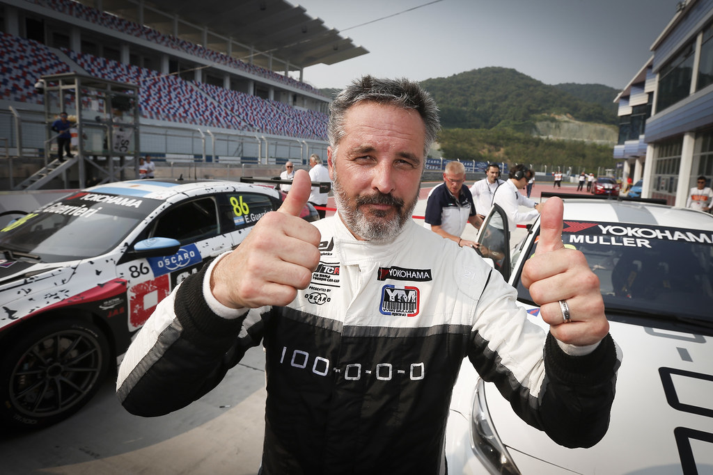 MULLER Yvan, (fra), Hyundai i30 N TCR team Yvan Muller Racing, portrait, winner race 2 during the 2018 FIA WTCR World Touring Car cup of China, at Ningbo  from September 28 to 30 - Photo Jean Michel Le Meur / DPPI
