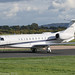G-XPTV - 2008 build Embraer 135BJ Legacy 600, taxiing to the Signature apron on arrival at Manchester