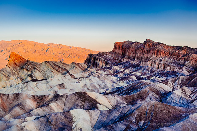 Sunrise at Zabriskie Point, Death Valley