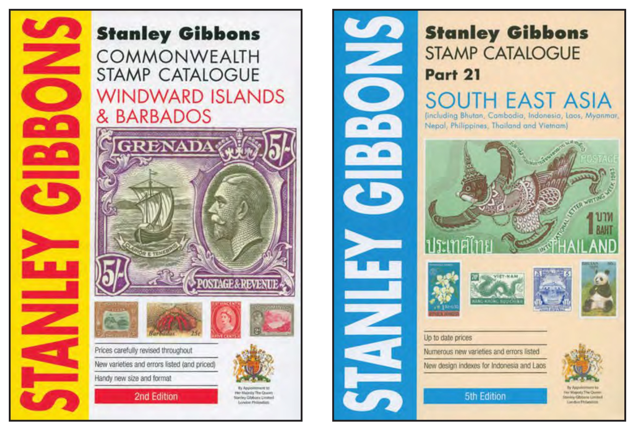 Stanley Gibbons publishes many regional and country-specific catalogues