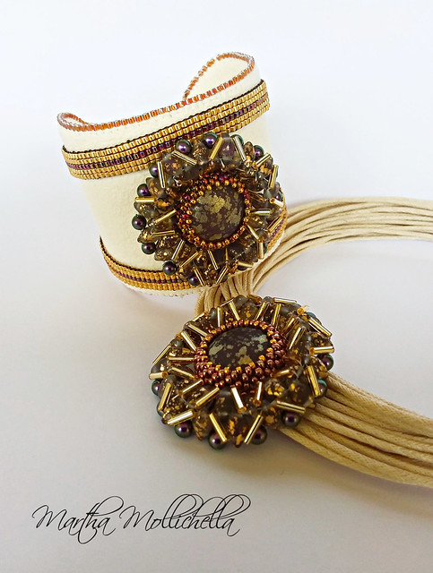Free beads pendant flower tutorial